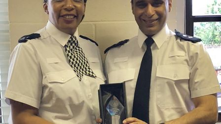 PC Ruth John-Chambers and Insp Mo Aziz of Bedfordshire Police. Picture: Beds police