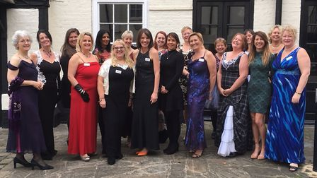 Hitchin Women in Business Networking Group get their frock on in aid of animal-free research into br