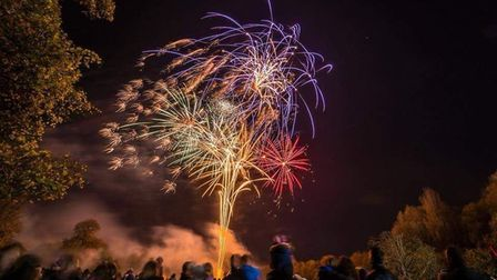 The Guy Fawkes fireworks at Hitchin Priory. Picture: Ladder 87 Company