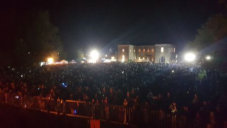 The crowd at Hitchin Priory for the Guy Fawkes fireworks. Picture: Ladder 87 Company