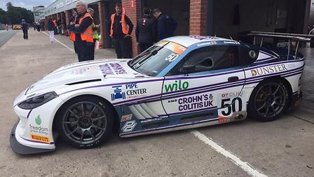The Ginetta G55 in which Ian Goodchild and Darren Standing raced in the GT Cup Championship bearing