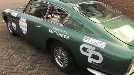 The Standings' Aston Martin ahead of the Beaujolais Run. Picture: Darren Standing