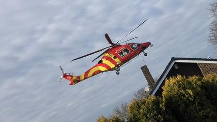 An Essex & Herts Air Ambulance was called to a property in Trafford Close, Stevenage, after a man in