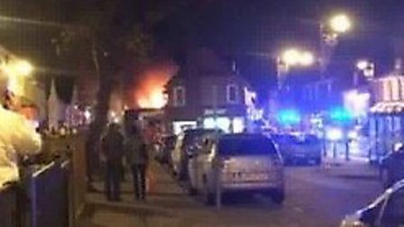 The fire started in Middle Row in Stevenage Old Town. Picture: Olly White