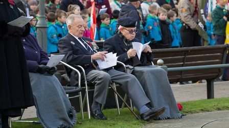 Veterans during the Biggleswade Remembrance Sunday service. Picture: Matt Margesson