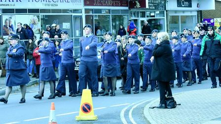 Remembrance Day parade in Sandy. Pictures: David Yendall, Media Link Charity photographer.