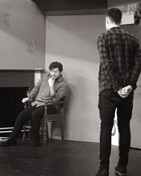 The Stevenage Lytton Players in rehearsals for Emily Bronte's timeless literary classic Wuthering He