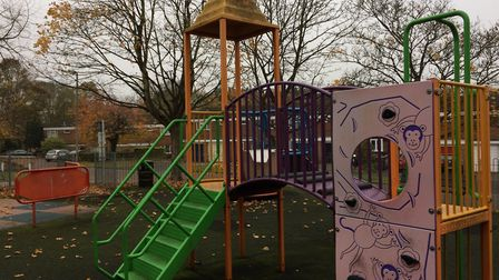 Linnet Close play area in Letchworth, one of the play areas for which that NHDC are appealing for co