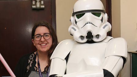 Hitchin Library manager Rebekah Nicolas, pictured during a Star Wars-themed reading event. Picture: