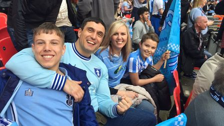 Steve McCairns and his wife and two sons are all loyal Coventry City fans.