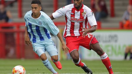 Coventry City took on Stevenage at the Lamex in August 2014