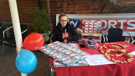 Georgina also had a stall at the Engineers Arms. Picture: Bev Kelly