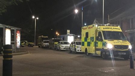 Emergency presence outside Hitchin railway station. Picture: Ivan Childs