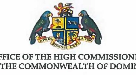 The High Commissioner for Dominica thanks Biggleswade for its genorsity during the country's time of