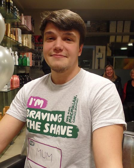 Jordan Allen wanted to brave the shave to raise funds for Macmillan in memory of his mum Amanda, who