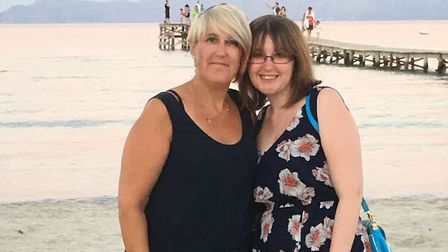 Stevie Pinnell with her mum Amanda, who lost her battle with cancer in August. Picture: Stevie Pinne