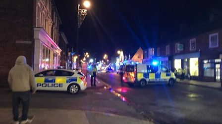 Police cordoned off parts of the Old Town after the blaze broke out on Friday night.