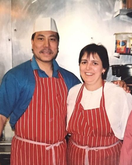 Walli and Cheryl have enjoyed working together for 35 years at their restaurant. Picture: Courtesy o