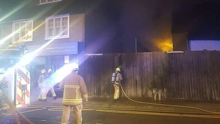 A fire has broken out at the back of Stevenage High Street.