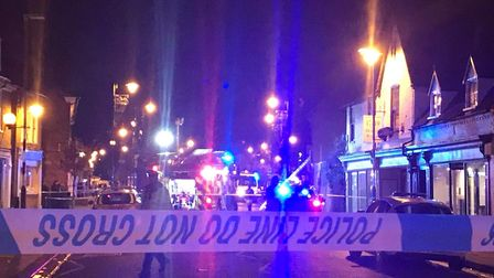 A police cordon was put up after a fire started in Stevenage's Middle Row. Picture: Max Taylor