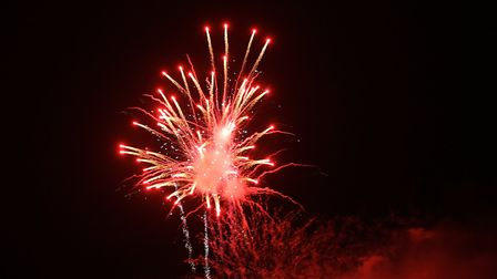 Fireworks at the end of The Great British Prom 2017 at Knebworth