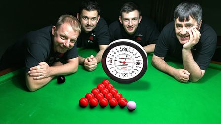 Mark Jenkins and Andy Barrett will be taking part in the 24-hour Snookerthon. Picture: Andy Barrett