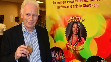 Sherma Batson's husband, Howard Rooke, at Celebrate!!! on Saturday. Picture: MILLROE Photography