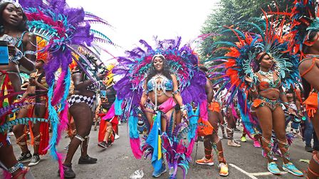 Dancers at the Notting Hill Carnival. Photograph: Yui Mok/PA.