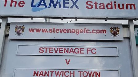 Stevenage took on Nantwich Town in the FA Cup first round at the Lamex on Saturday. Credit @laythy29