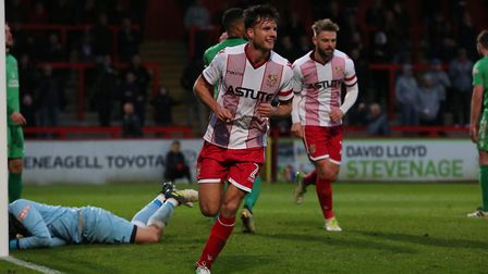 GOAL! Jonathan Smith celebrates his second goal. Picture: Danny Loo
