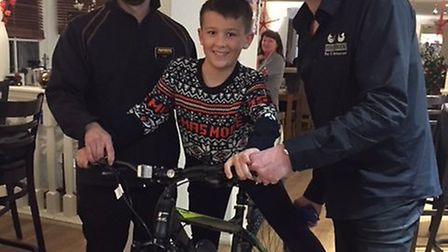 Gary Connelly sorted out a new bike for Kieran after theives took the one he spent so long saving fo