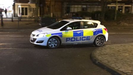 There was a strong police presence in Stevenage Old Town over the weekend, with officers investigati