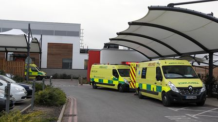 A man allegedly went into Stevenage's Lister Hospital carrying a knife in the early hours of Monday