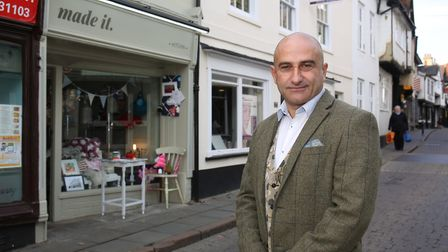 Made It owner Tony Miceli outside his new shop on Bucklersbury. Picture: Danny Loo