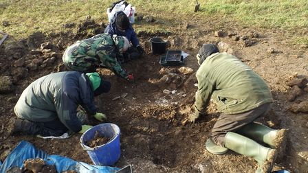 The archaeological dig site near Kelshall. Picture: NHDC