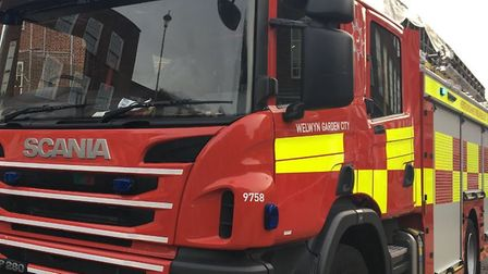 Two fire engines from Stevenage were called to deal with the fire.
