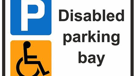 Disabled parking bay. Picture: Archant