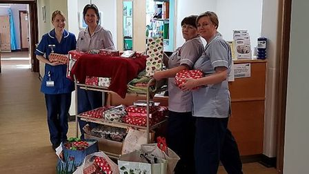 Staff at the Garden House Hospice in Letchworth were delighted with the gifts donated for their pati