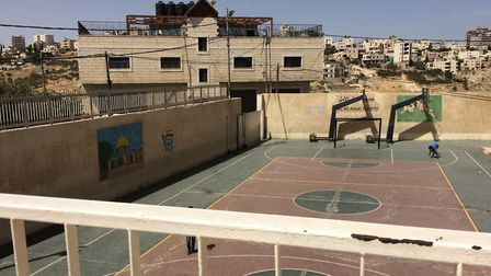 The Jeel Al Amal school and orphanage in Bethany visited by Madeline and Archie. Picture: Madeline R