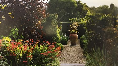 Cornish Hall End garden, features in Parsonage House, Helions Bumpstead, features in Secret Gardens