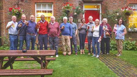 Hitchin and Harpenden MP Bim Afolami with the Save The Windmill group. Picture: Archant