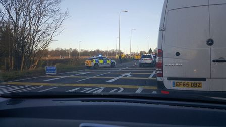 The scene after the crash on the A1 near Biggleswade. Picture: Russell Aylott