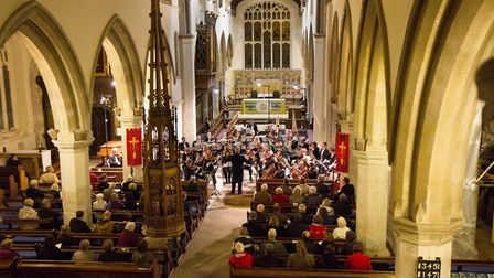 Hitchin Symphony Orchestra performing at St Mary's Church in Hitchin. Picture: Andrew Hyde