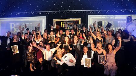Our winners of the Hertfordshire Business Awards 2017. Picture: CPG Photography