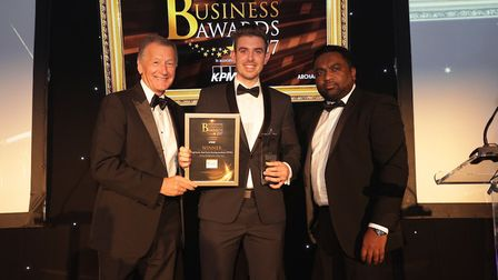 Our Young Entrepreneur of the Year was Paul Davis from the Paul Davis Fencing Academy. Picture: CPG