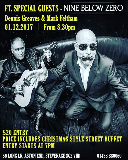 Dennis Greaves and Mark Feltham will be performing an acoustic concert at The Crown
