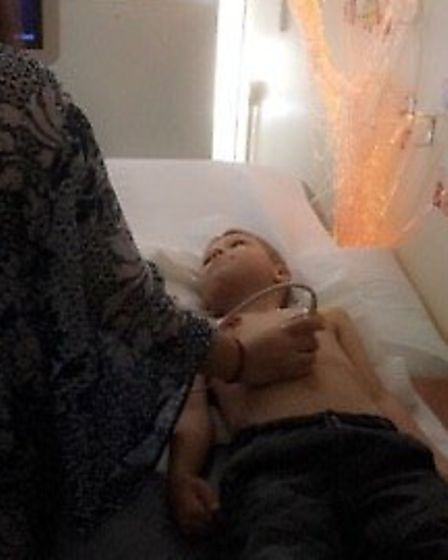 Elliott still recieves treatment after his life-threatening surgery when he was just a newborn. Pict