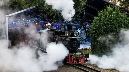 Puffing through the steam with engine driver. Picture: SAFFRON PHOTO