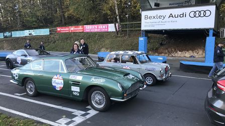 At the starting line for the Beaujolais Run. Picture: Darren Standing