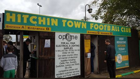 Hitchin Town play at Top Field again tomorrow. Credit @laythy29